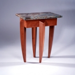 Paris pearwood and onyx side table.