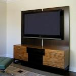 Custom TV cabinet.