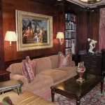 Mahogany-paneled study on Park Avenue.
